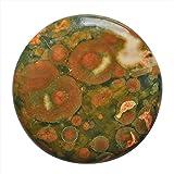 26x 26x 4mm Dimensioni Australian Rainforest Rhyolite diaspro cabochon tondo, fare gioielli ag-10744