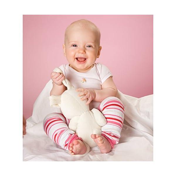 Hoppediz bebé orgánico del algodón calentadores de la pierna (gris con flores) 2
