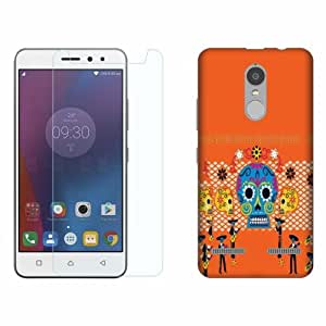 Printland Tempered Glass + Back Cover Combo For Lenovo K6 Power