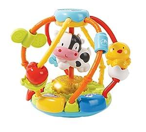 VTech-80-502922 Cuentas muuusicales, sonajero Bola interactiva bebé con más de 45 melodías, Voces y Canciones, desarrolla Vocabulario y motricidad Fina, (3480-502922)