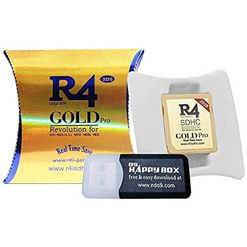 2019 Gold Pro & 32 GB Micro SD-Karte, DS / DS Lite / DSi / DSi XL / 3DS / 2DS - 5-sprachiger ES / IT / DE / FR / UK-Kernel herunterladen -