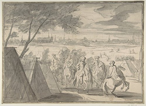 Adam Frans van der Meulen - Louis XIV at the Siege of Douai Seen from the South-East (July 1