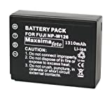 Maxsimafoto - NP-W126, Fully Compatible Battery, 1310mAh, for Fujifilm fits X-Pro1, X-E1, X-E2, X-M1, X-A1, X-T1, X-T2 FinePix HS50EXR, HS30EXR, HS33EXR, FUJI W126. NPW126.