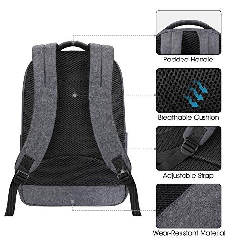 392f230218919 ... REYLEO Rucksack Herren und Damen 15.6 Zoll Laptop Daypack Business Backpack  Tagesrucksack für Uni Reise und ...