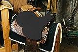 ENGEL GERMANY Cubierta de silla de montar Western piel de cordero (montar a caballo, Western) gris anthracita (Sabez 3)