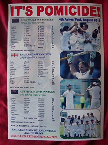 England 4. Asche Test Win 2015–England Win der Asche–Souvenir Print