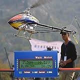 lzndeal 100A 60V DC RC Wattmetre Analyseur de Puissance RC analyseur de puissance de batterie d'avion d'hélicoptère Équilibreur de mètre de watt