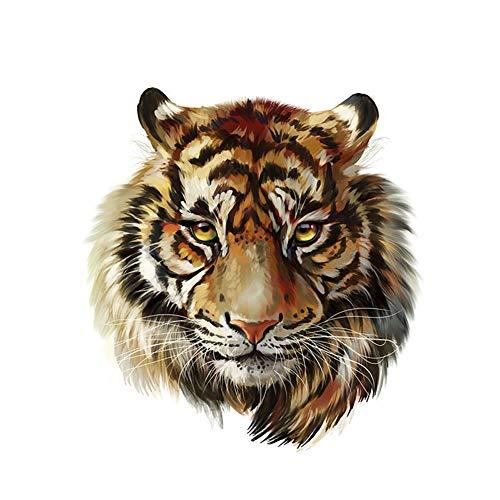 puran Kleidung T-Shirt DIY Tiger Kopf Patch Heat Transfer Aufkleber Aufbügler Applikation Kleidung Dekoration Multi Tiger Aufkleber