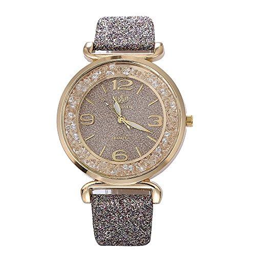 XZDCDJ Damen Uhr Armbanduhr Bracelet Jungen Uhr Mode Frauen kristall Edelstahl analog Quarz armbanduhrGrau909