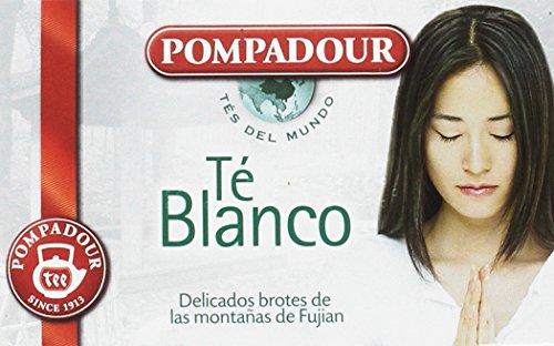 Pompadour Té Blanco - Pack de 5 x 20 bolsitas