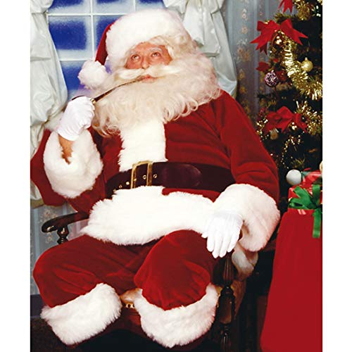 NET TOYS Weihnachtsmann-Kostüm Deluxe | Rot-Weiß in Größe STD (48 - 52) | Hochwertige Herren-Verkleidung Knecht Ruprecht Komplett-Set | Perfekt geeignet für Weihnachten & Weihnachtsfeier
