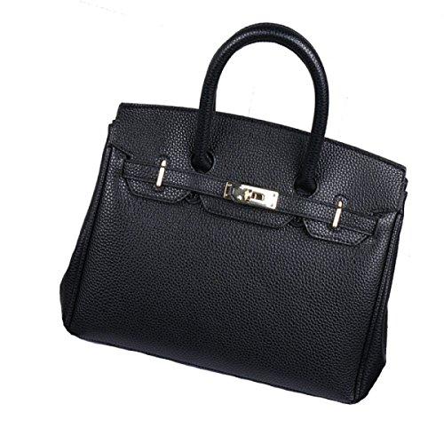 Solido Di Modo Della Signora Di Colore Messenger Bag Multi-color Black