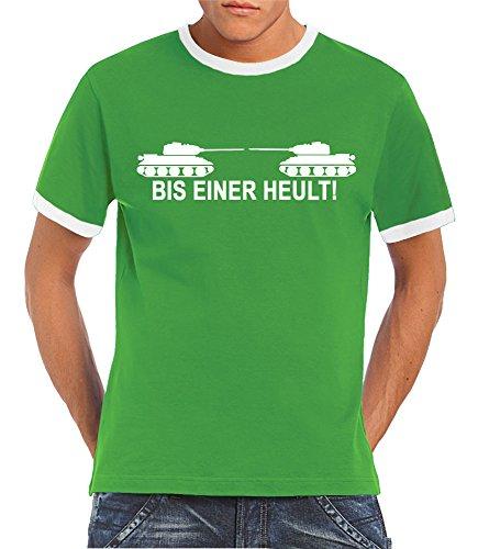 Touchlines Herren T-Shirt, Verde (Kelly Green/White), XL
