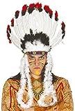 Pour Hommes Femmes Amérindien Rouge Chef Indien Blanches Noires Coiffe Plume Far West Costume Déguisement Hat