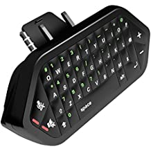 Xbox One Chatpad 2.4G Wireless Receiver Keyboard & Audio Eingebaute Tastatur für Chatten & Messaging USB Receiver für Xbox 1 Controller beinhaltet Headset / Audio Jack - Schnell und einfach Pariing Qwerty Keyboard US Englisch Layout Chatpad für Xbox One / Xbox One S Controller, Schwarz
