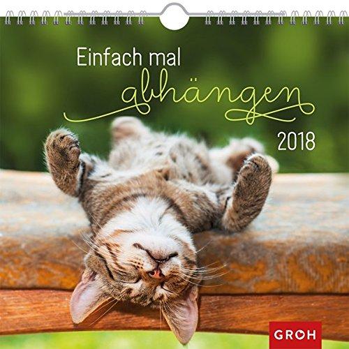 Einfach mal abhängen 2018: Dekorativer Wandkalender mit Monatskalendarium | Maße (BxH): 21x20cm