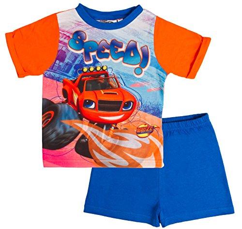 Blaze and the monster machines -  pigiama due pezzi  - maniche corte  - ragazzo blaze - speed! 1,5-2 anni