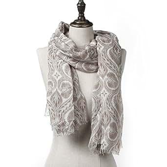 Natural Feelings Sciarpa di Inverno alla moda di Stampa Floreale Scialle Leggera Per Donna