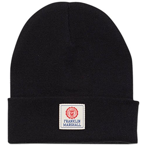 Franklin-Marshall-Beanie-Hat-Navy