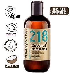 Naissance Huile de Coco Fractionnée (n° 218) - 250ml - 100% pure et naturelle - inodore, légère et émolliente, sans film gras