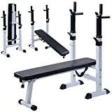 Costway Folding Weight Bench Adjustable Sit up Barbell - Best Reviews Guide