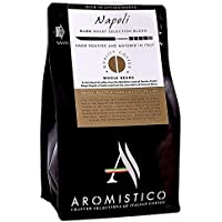 AROMISTICO | Rich Strong Gourmet Dark Roast | Premium Italian Roasted Whole COFFEE BEANS | NAPOLI BLEND | For Espresso, Moka, Filter, Cafetiere, Pour-Over Drip, Aeropress | SMOKY, MALTY & DARK CHOCOLATE-Like