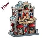Lemax 85344 - Noras Christmas Boutique - Kleines Weihnachtsgeschäft - NEU 2018 - Caddington Village - Beleuchtetes & Animiertes LED Porzellanhaus / Weihnachtshaus - Dekoration / Weihnachtsdeko - Weihnachtswelt / Weihnachtsdorf