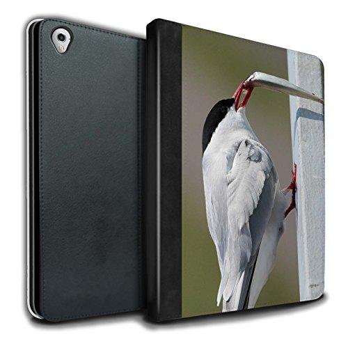 Stuff4 PU Cuero Funda/Carcasa/Folio Libro en Para el Apple iPad Pro 9.7 tablet / serie: Ártico Animales - Ártico Pájaro/Tern