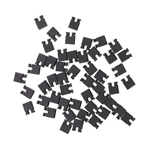 SODIAL (R) 50 Stueck 2,54 mm Stecker Bruecke Mini Jumper Steckverbinder - Mini-jumper