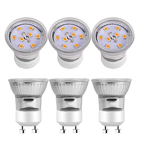 Kindeep GU10 LED-Leuchtmittel, entspricht 25 W, 3 W, 120 V, 6 Stück, keramik, Warm White - 2700k, GU10, 3.00W 120.00V