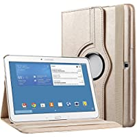 Bingsale PU Leather 360 Degree Rotating Stand Case Cover for Samsung Galaxy Tab 4 7.0 with Stand Auto Sleep/Wake function (samsung galaxy tab 4 10.1, champagne gold)