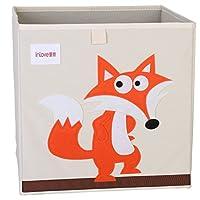 Cartoon Storage Cube Canvas Foldable Toy Organizer Box for Kids by ELLEMOI