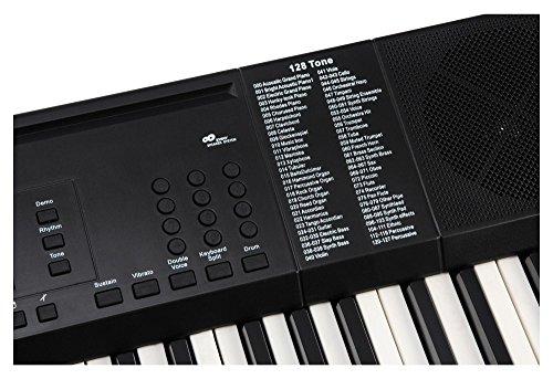 Funkey 00038126 61-Edition Keyboard (128-Sound, 128-Rhythmen, 10-Demo Song, Netzteil, Notenständer) schwarz - 6
