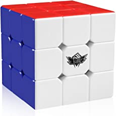 Cyclone Boys Magic Cube 3x3x3 Stickerless Speed Puzzle Cube(56mm) by Cyclone Boys
