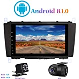 Android 8.1.0 Autoradio, Hi-azul Car Radio In-Dash 8 Zoll Car Stereo GPS Navigation Moniciver Navi 4-Core Car Audio für Mercedes-Benz C Class W203/ CLK W209 (mit Rückfahrkamera und DVR)