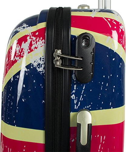 Polycarbonat ABS Hartschalen Kofferset mit Motiv 2-tlg. British Flag