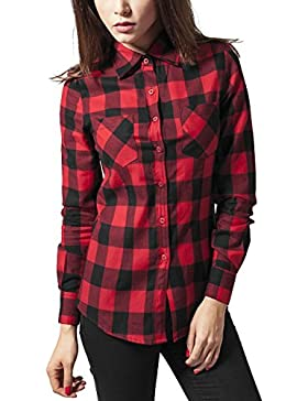 Urban Classics Damen Hemd Ladies Checked Flanell Shirt