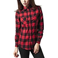 Urban Classics Ladies Checked Flanell Shirt, Camicia Donna