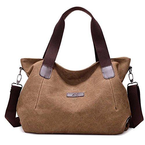 YAAGLE Damen Canvas Handtasche Freizeit Umhängtasche Shopper Tragetasche