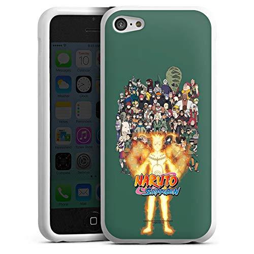 DeinDesign Silikon Hülle kompatibel mit Apple iPhone 5c Case Schutzhülle Naruto Shippuden Konoha Itachi (5c Case Naruto Iphone)