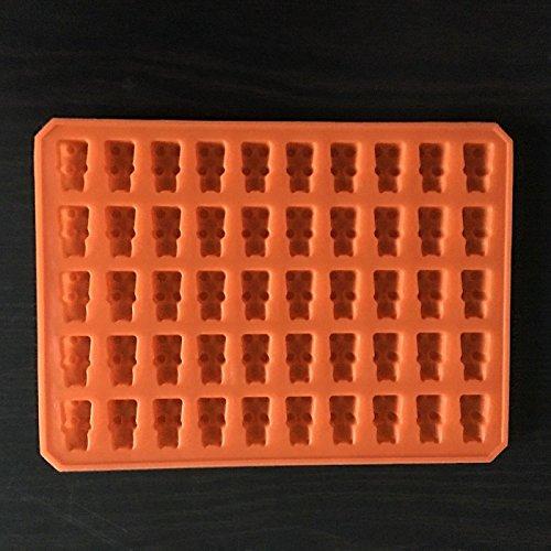 luoshui 1pc Practical Cute Gummy Bear 50 Cavity Silikon Tray Make Chocolate Candy Ice Jelly Mold DIY Children Cake Tools Großhandel (Mold Gummy Bear Tray)