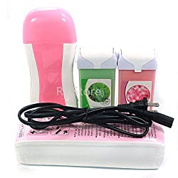 UBO 4 in 1 Rose Tea Tree Taste 100g Wax Carriage , Pink Color Roll on Roll-on Refillable Depilato Wax Heater. . . , USA