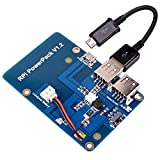 Kuman batería de Litio Pack expansión Junta Fuente de alimentación con Interruptor + Micro USB Cable para Raspberry Pi 3 Modelo B, Pi 2 Modelo B & Pi 1 Model B+ A+ A ky68