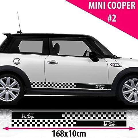 Mini Cooper S Side Racing Stripe Stickers Decal Tuning car