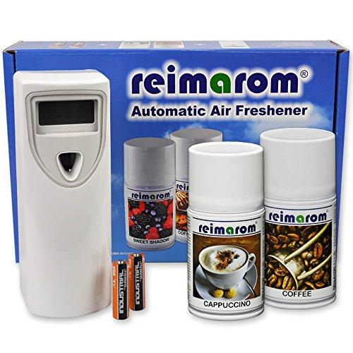 Aroma Set Cafe mit Duftspender sowie zwei Aerosol Duftsprays zur Beduftung von Cafes und Restaurants -