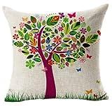 GONO Blumenkissenbezüge Leinen Baumwolle gedruckt Von Vintage Sofa-Kissen Kopfkissenbezug-Stil 38