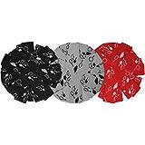 COM de Four® 9x Sartén Protección de fieltro, arañazos para sartenes, con diseño decorativo, en negro, rojo y gris