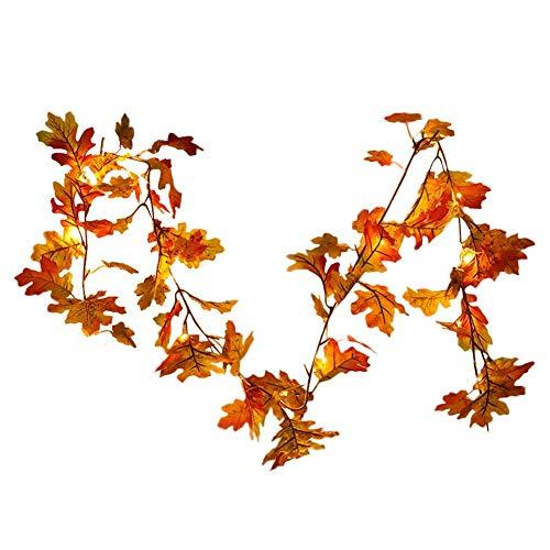 gaeruite 1.8m Blatt Rebe Garland, Künstliche Red Maple Weinblätter Garland für Hochzeit Garten...