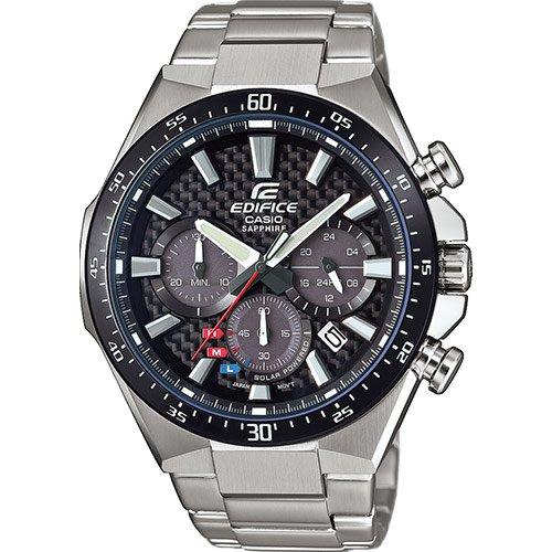 CASIO Herren Chronograph Solar Uhr mit Edelstahl Armband EFS-S520CDB-1AUEF