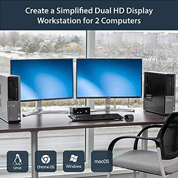 StarTech.com Dual Monitor DisplayPort KVM Switch - 2 Port - USB 2.0 Hub - Audio and Microphone - DP KVM Switch (SV231DPDDUA)